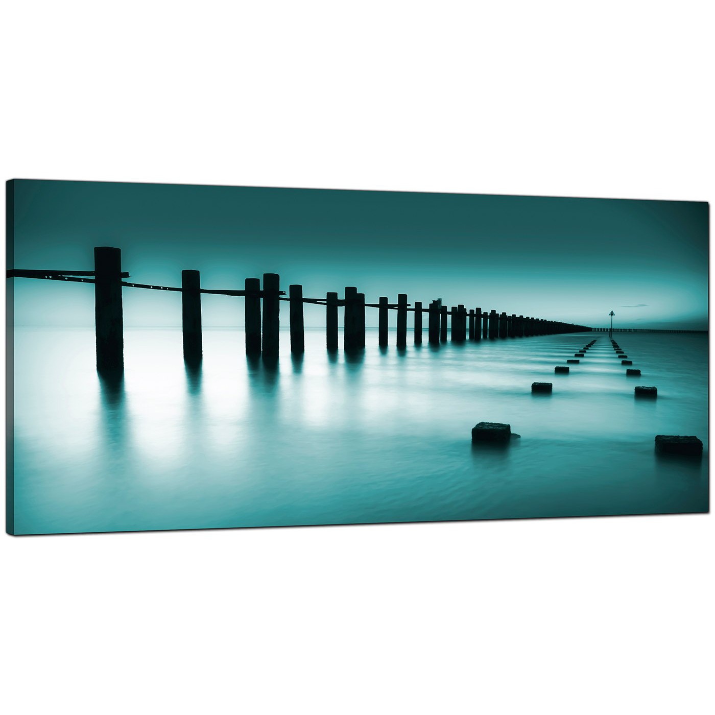 Cheap Photo Canvas Cheap Teal Canvas Prints Of The Sea
