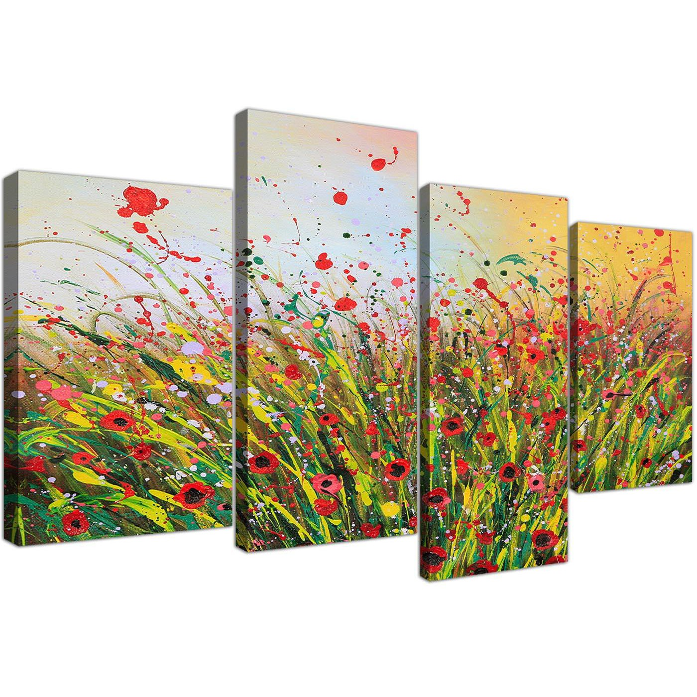 Large Canvas Prints For Living Room Abstract Floral Summertime Canvas Prints For Your Living Room