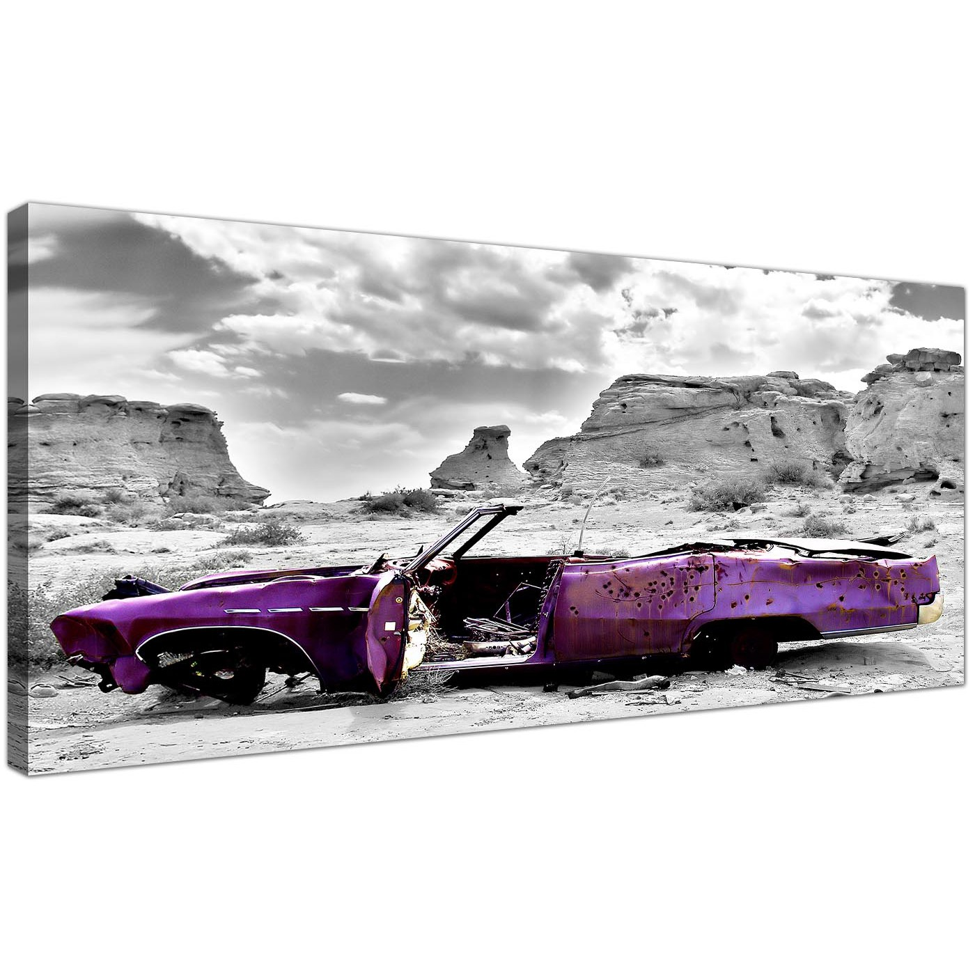 Black And White Canvas Prints Modern Black And White Canvas Prints Of A Purple Car