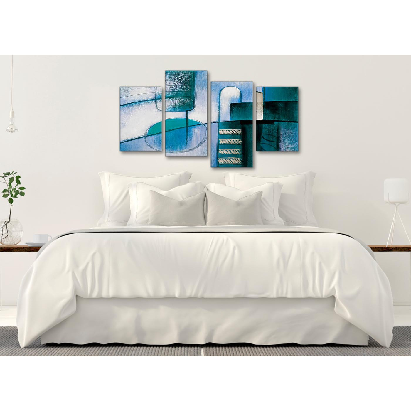 Large Canvas Prints For Living Room Large Teal Cream Painting Abstract Bedroom Canvas Wall Art