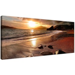 Enticing Display Gallery Item Large Canvas Wall Art Sepia Panoramic Nauticallandscape Display Gallery Item Wide Canvas Prints A Beach Sunset Your Living Room
