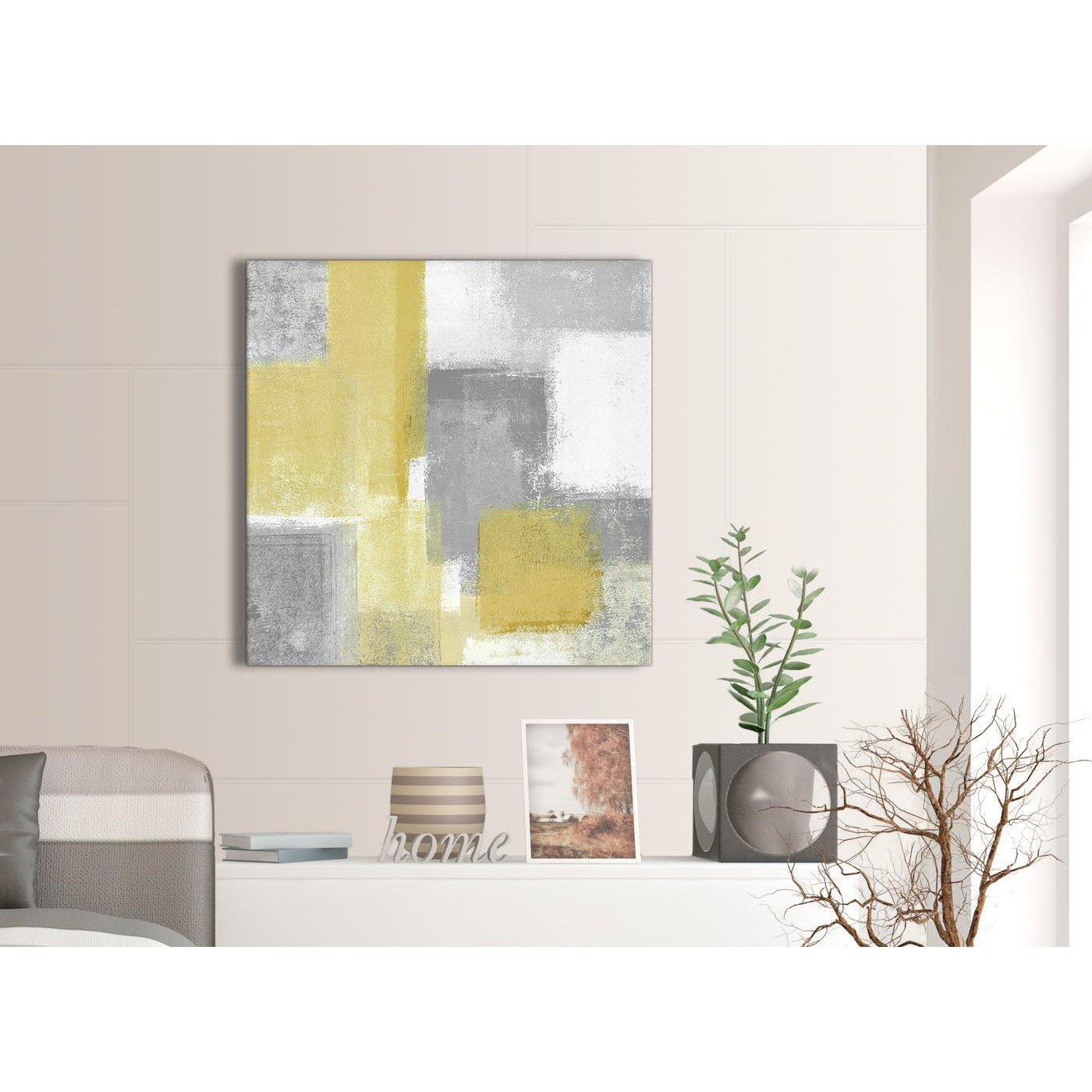 Mustard Accessories For Living Room Mustard Yellow Grey Abstract Living Room Canvas Pictures
