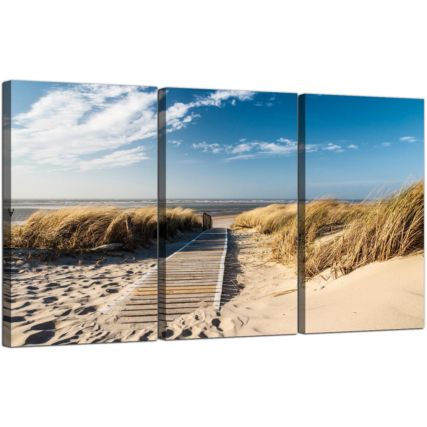 Beach Prints Large Beach Canvas Art Set Of Three For Your Bathroom