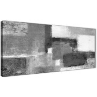 Black White Grey Bedroom Canvas Wall Art Accessories ...