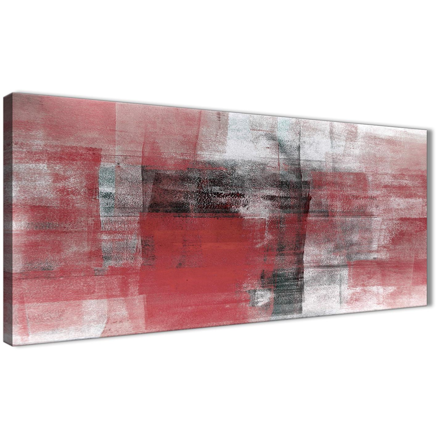 Red Black White Painting Living Room Canvas Wall Art