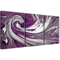 Purple White Swirls Modern Abstract Canvas Wall Art ...
