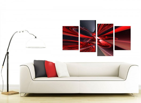 Abstract Canvas Art Prints in Deep Red - For Living Room - living room canvas art