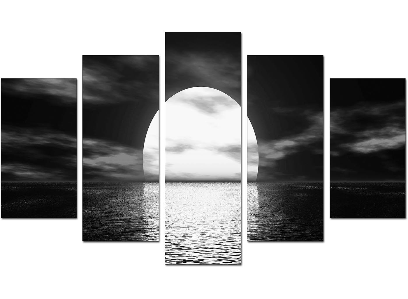 Big Size Sofa Extra Large Sunset Canvas Prints Uk Set Of Five In Black