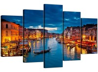 Venice Italy Canvas Prints for your Living Room - 5 Panel