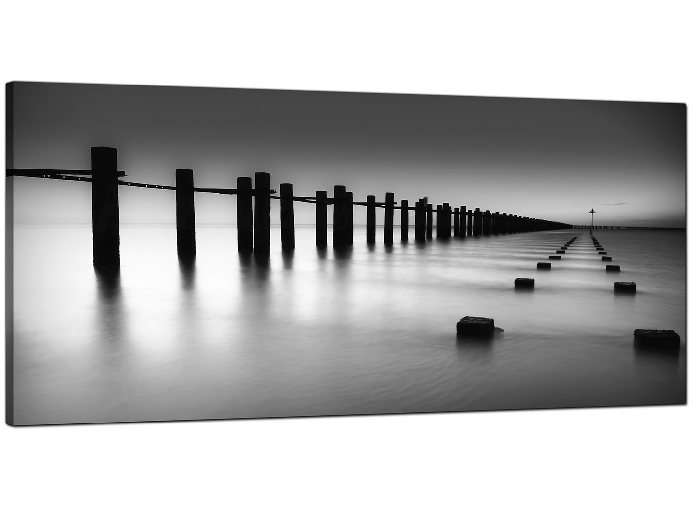 Black And White Canvas Prints Modern Black And White Canvas Art Of The Sea
