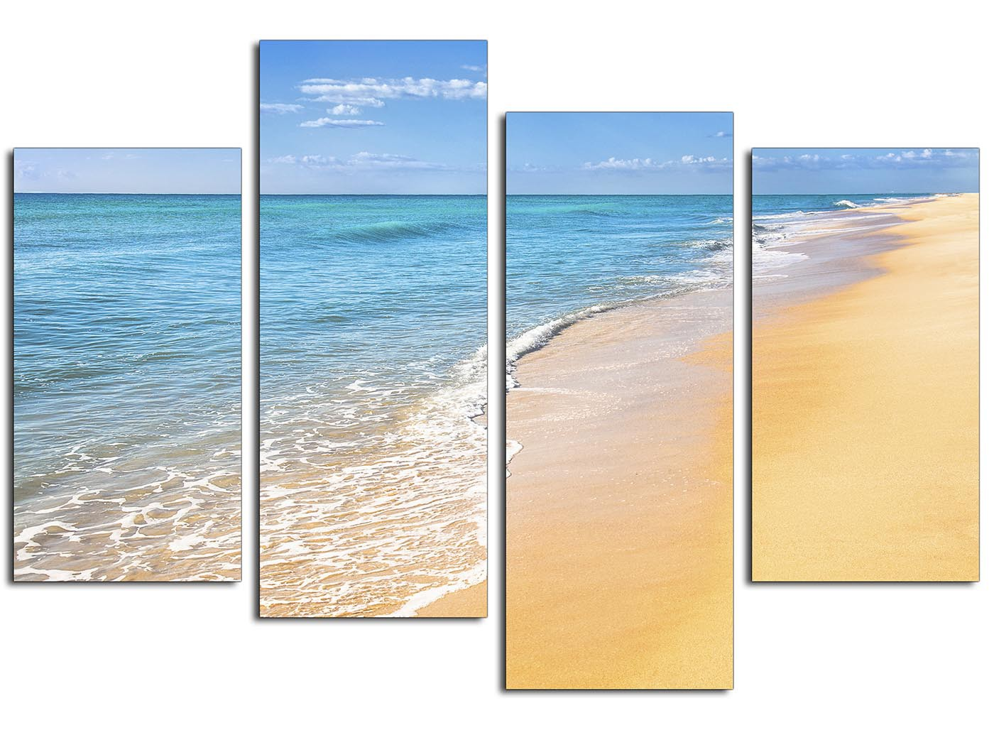 Cheap Canvas Pictures Canvas Art Of A Tropical Beach For Your Bedroom 4 Part