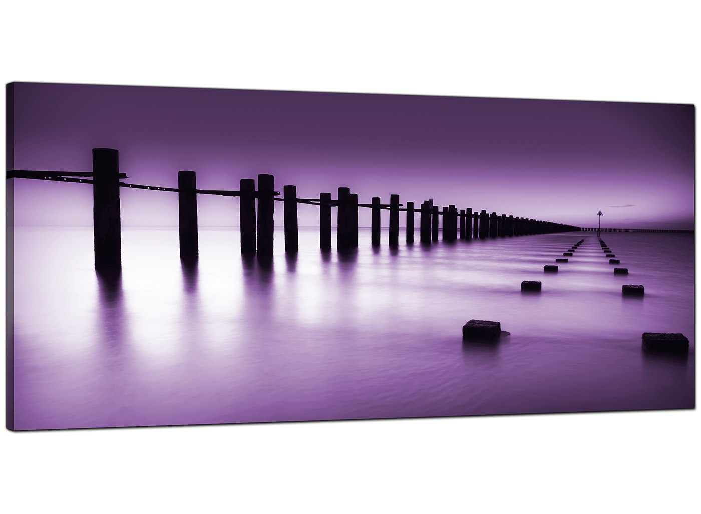 Cheap Purple Canvas Prints Of The Seaside
