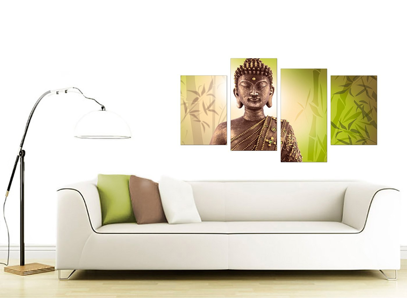 Large Canvas Prints For Living Room Canvas Art Of Buddha In Green For Your Living Room