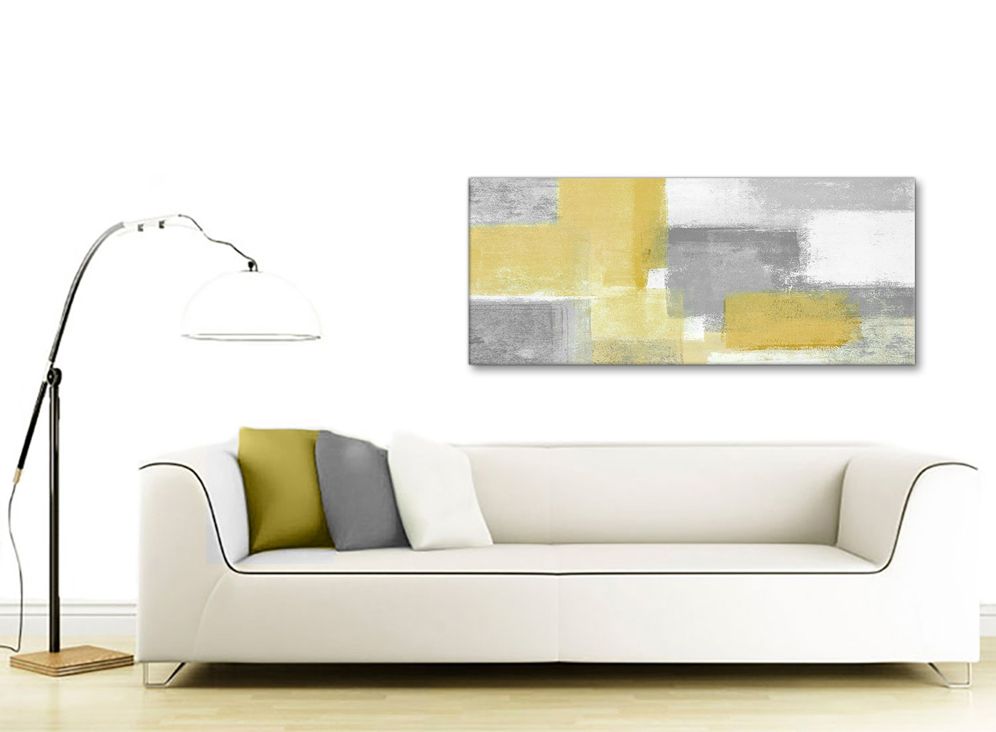 Mustard Accessories For Living Room Mustard Yellow Grey Living Room Canvas Wall Art