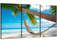 Cheap Tropical Beach Canvas Prints UK 3 Panel for your ...