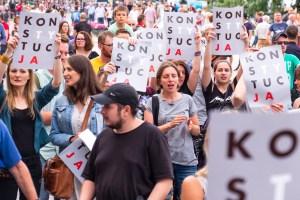 manifestation en Pologne