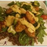 """#Vegan Recipe: Quinoa, Avocado, and Mandarin Orange """"Chicken"""" Salad"""
