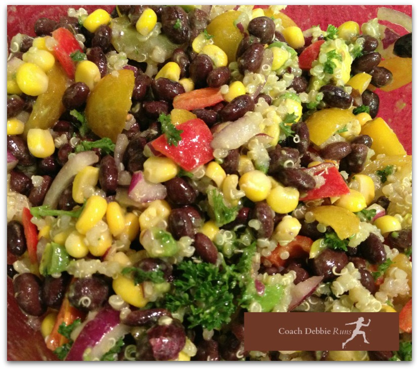 This Southwest Salad with black beans, quinoa and avocado is perfect as a stand alone meal or as a barbecue side dish.