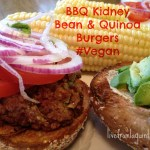 BBQ Kidney Bean and Quinoa Burgers. #Vegan Recipe