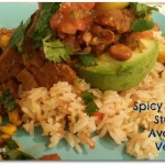 Vegan Recipe: Spicy Chipotle Seitan with Avocado. Plus a Spring into Yoga Update