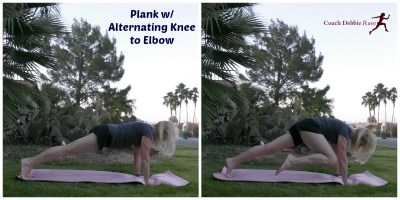 Plank Altnernating Knee