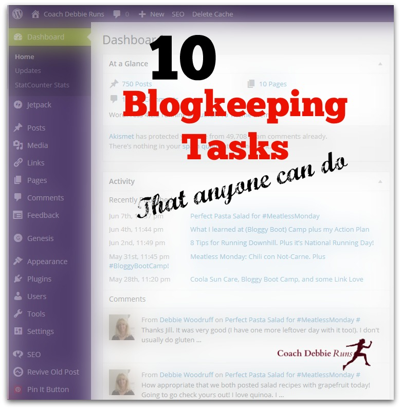 10 Blogkeeping Tasks that anyone can do. Keep your blog clean, quick, and easy to read and share.