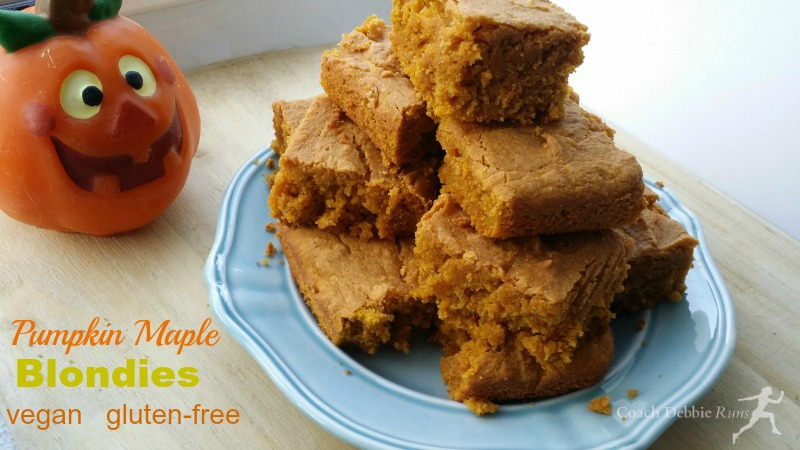 ... : Pumpkin Maple Blondies recipe. Delicious, vegan, and gluten free