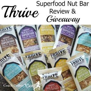 Thrive with GoMacro: Thrive Superfood Nut Bar Review and Giveaway