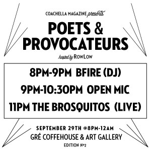 POETS & PROVOCATEURS EDITION2 @ GRÉ COFFEHOUSE & ART GALLERY | Palm Springs | California | United States