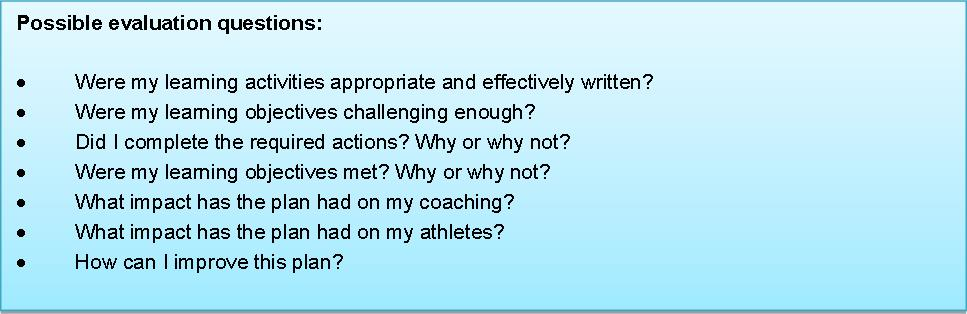 Evaluating your learning Coach Growth