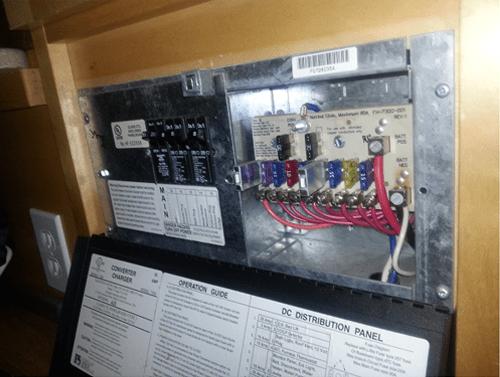 rv converter with fuse box