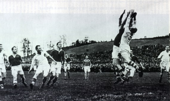 Tyrone GAA player Jim Devlin in action