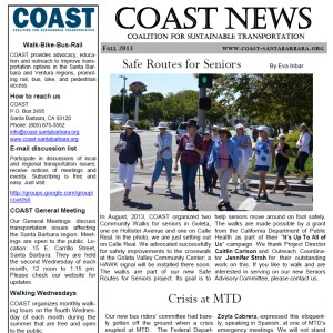 COAST Fall 2103 Newsletter