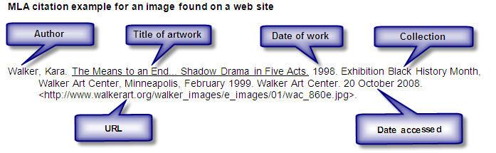mla web in text citation