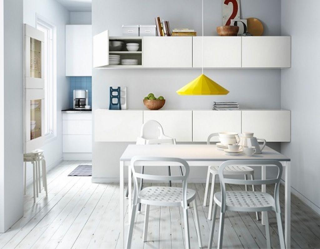 Cocinas peque as s cales el m ximo partido - Ikea mesa blanca ...