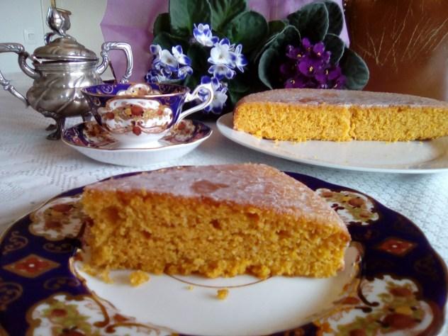 Bizcocho de almendra y zanahoria