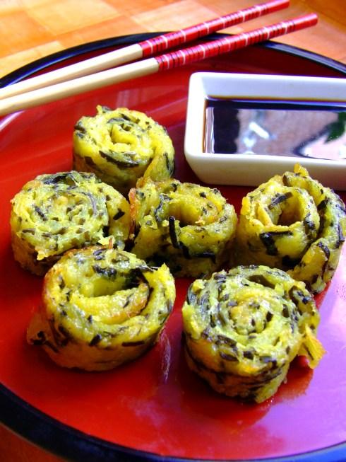 Rollitos de patatas con algas