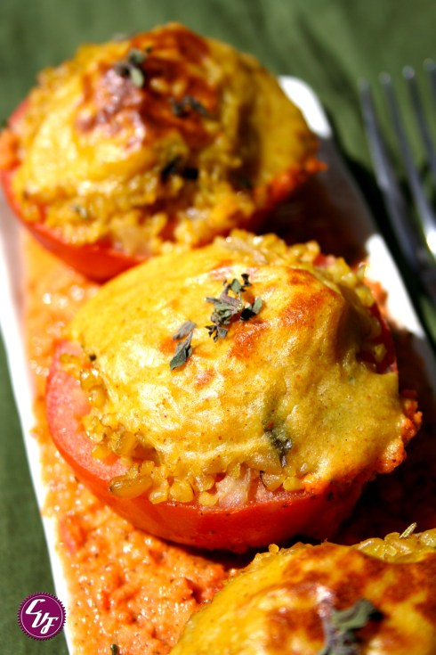 Tomates rellenos con bulgur
