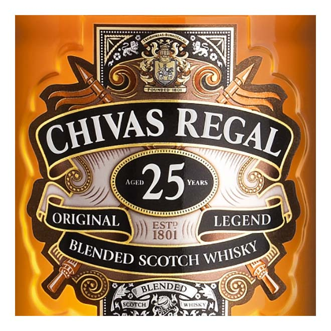 Scotch Gläser Cocktail-gläser Chivas Regal Scotch Whisky 25 Jahre 70cl