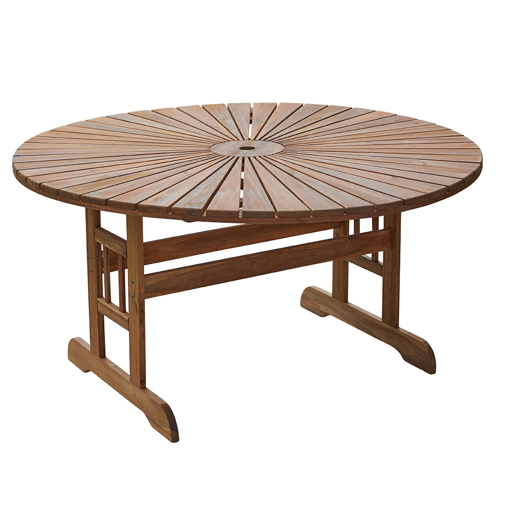 Table Ronde Massif Table Ronde De Jardin Borneo