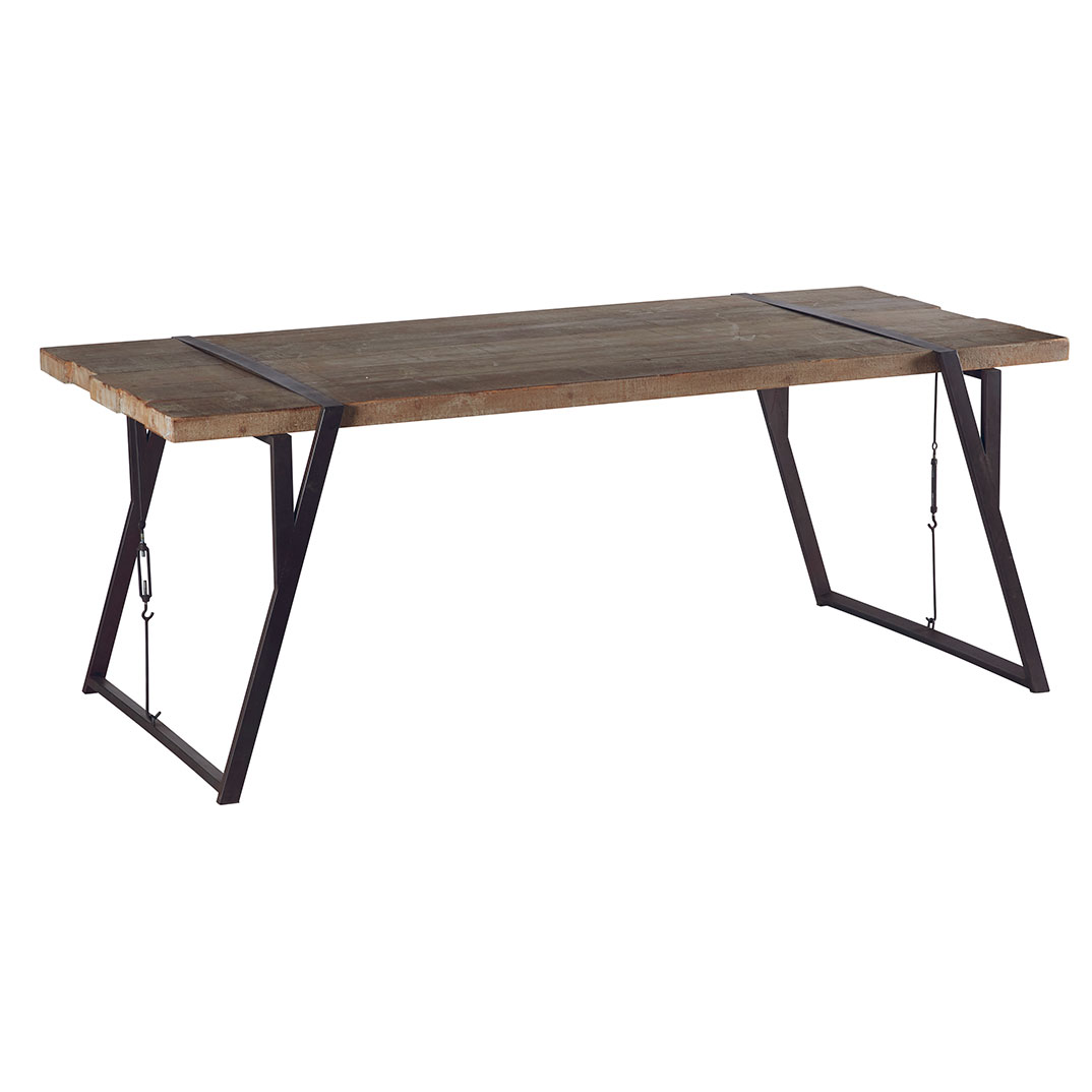 Table Bois Fer Design Table Westmount