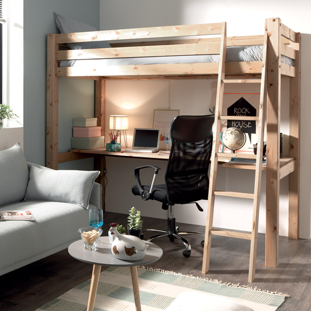 Meuble Scandinave Annecy Lit Compact Studio