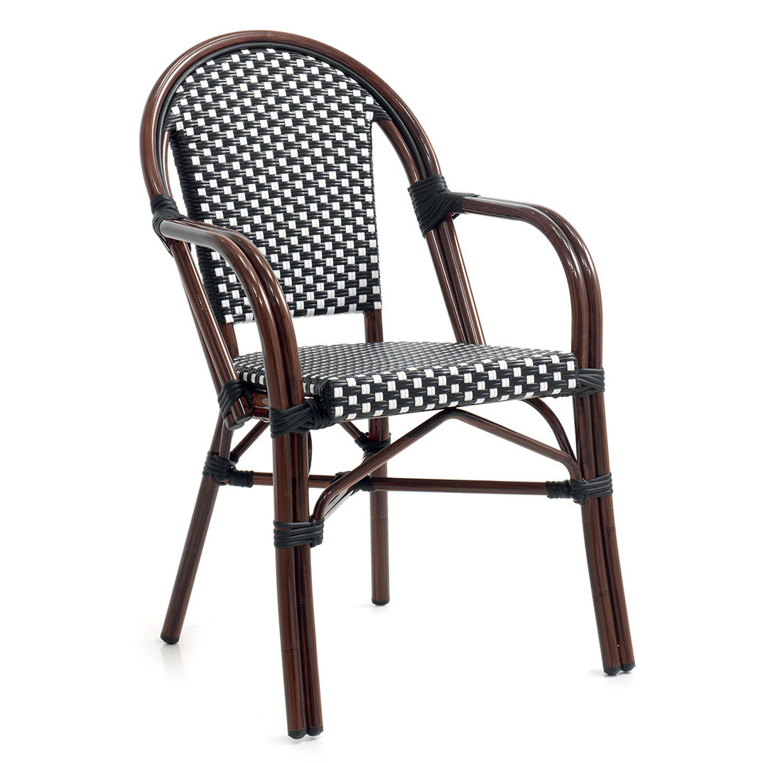 Chaise Bistrot Noire Fauteuil Bistrot Lutecia