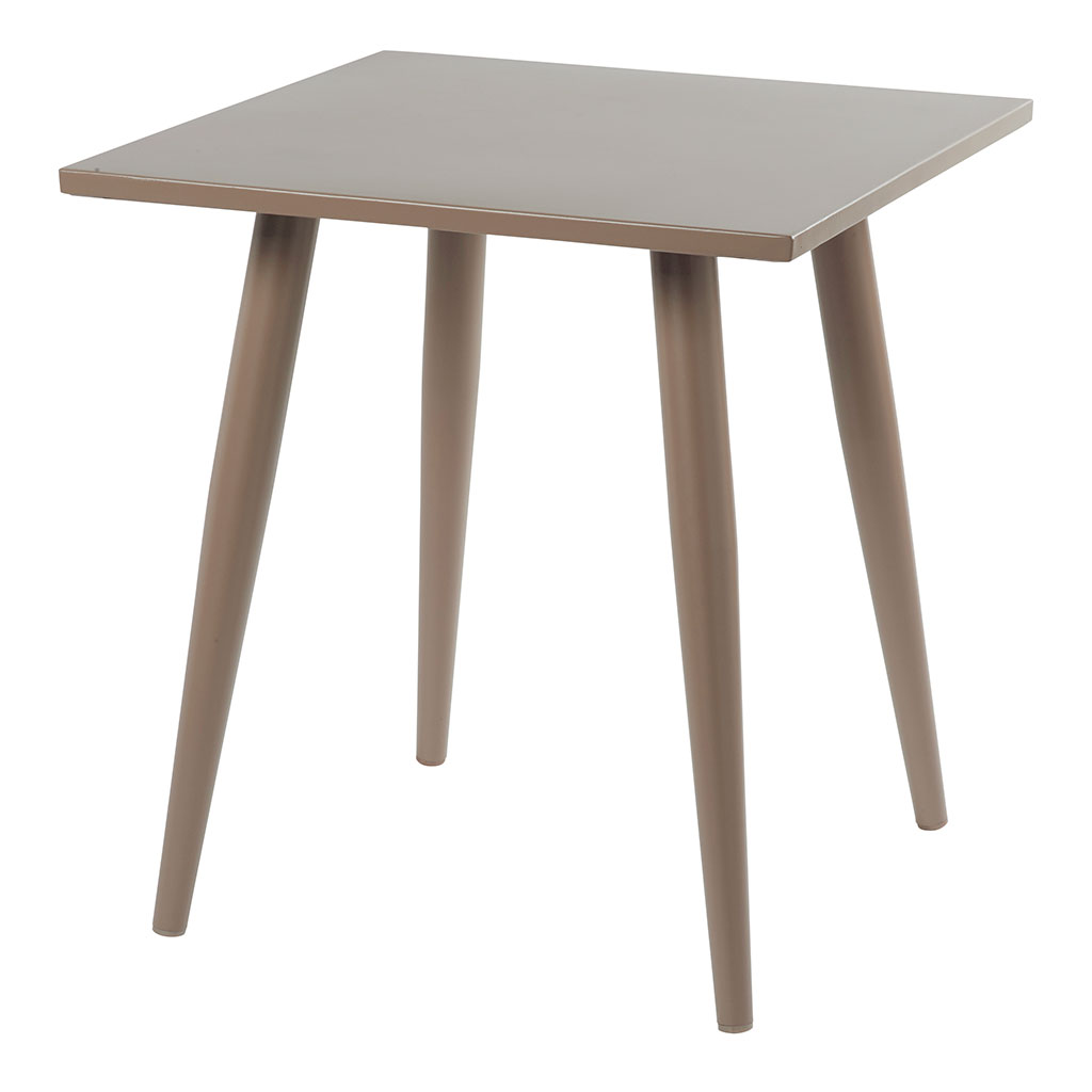 Table Carrée Aluminium La Table De Jardin Carrée En Aluminium Au Coloris Taupe à