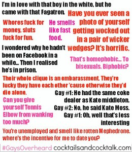 Gays Overheard #8: Fast Food, Facebook & Fagatrons