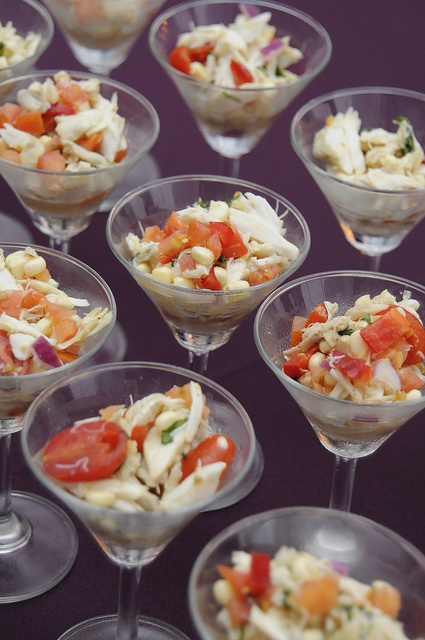 Corn and Crab Salad Hors D'oeuvres Cocktail Hour Reception