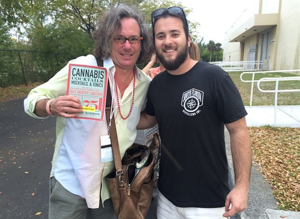 South Florida Distillers cofounder Joe Durkin (right) with Cannabis Cocktails, Mocktails, and Tonics author Warren Bobrow during the 2016 Rum Renaissance Festival in Miami.