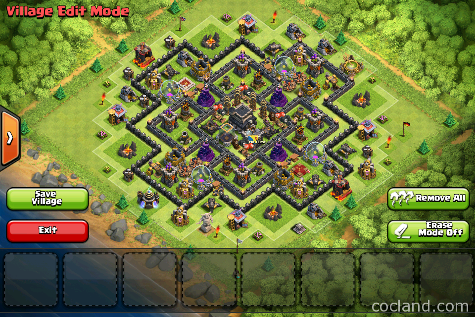 Clash of clans town hall 9 th9 trophy base the castle apps