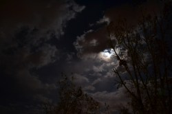 Small Of Moon And Clouds
