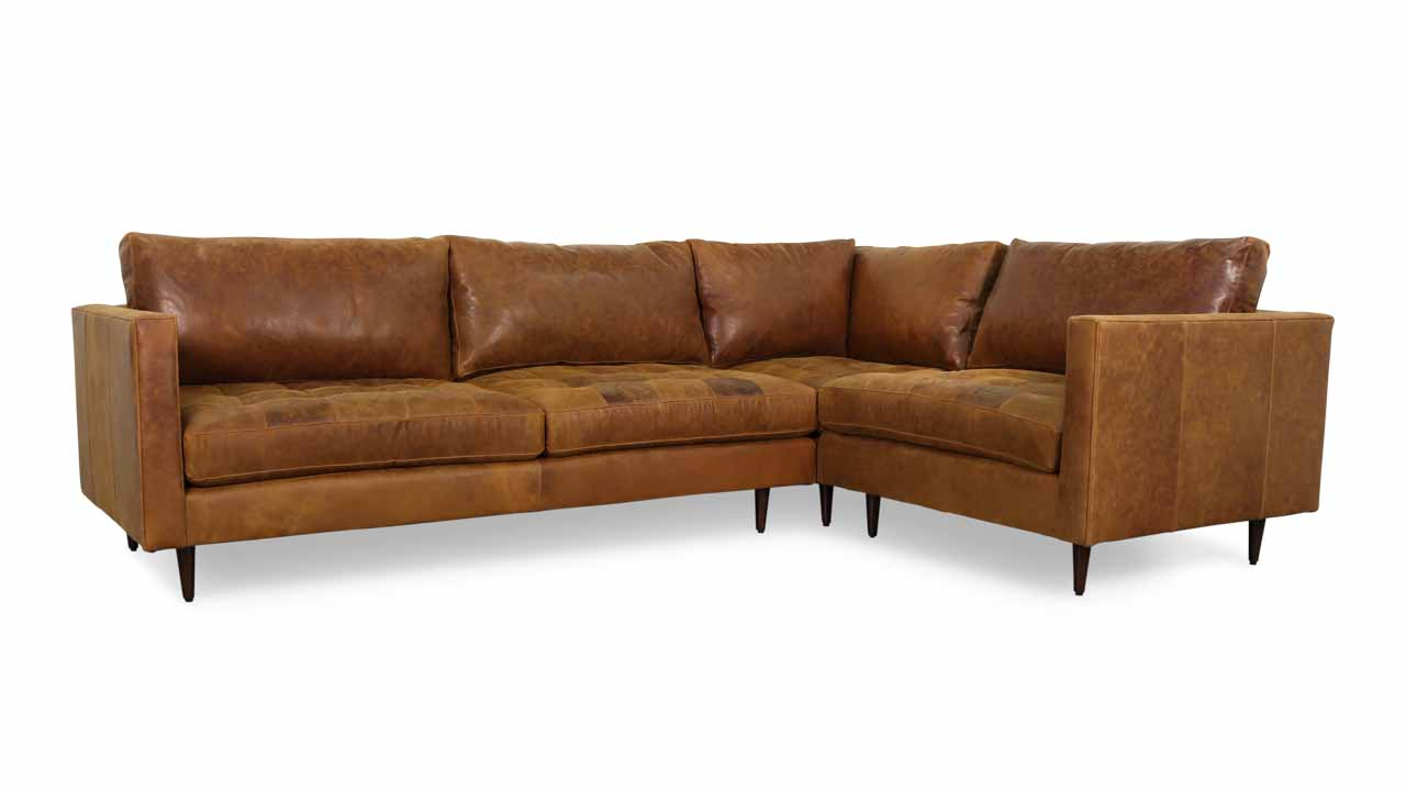 Cococo Home Madison Square L Leather Sectional Made In Usa